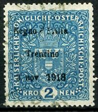 Austria 1918 Trentino Nov 3 1918 Overprint 2K Key Stamp Used Scott's N48