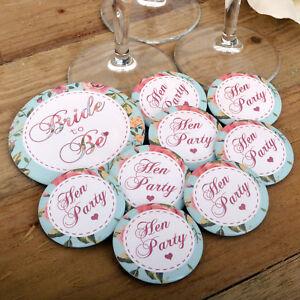 VINTAGE HEN PARTY BADGES Floral Vintage Style | Vintage Summer Hen Night Range