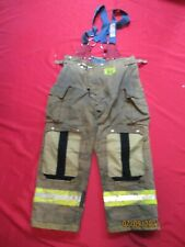 Mfg 2010 Morning Pride 40 X 30 Fire Fighter Turnout Pants Bunker Gear Suspenders