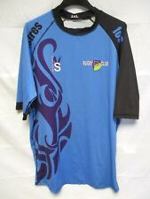 Maillot rugby RCOP FOS ISTRES porté n°4 bleu NEW SPORT XXL moulant