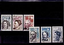 France 1962 - Série complète T. oblitérés  Personnages célèbres YT 1345 à 1350