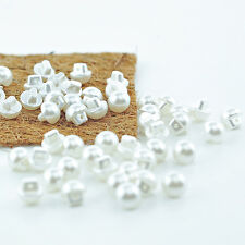 10pc 10mm Milk Paper White Cardigan Trouser Shirt Baby Sewing Buttons 0378