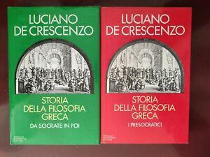 LUCIANO DE CRESCENZO:STORIA DELLA FILOSOFIA GRECA 1/2