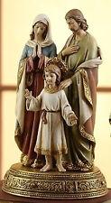 "10.5"" Holy Family Figure on Base Statue Mary Jesus St Joseph Statue # 61289"