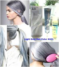 A21 HAIR COLOR LIGHT GREY BERINA PERMANENT HAIR DRY CREAM FASHION+FREE TREATMENT