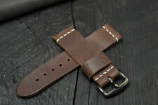 Exclusive! Handmade Leather Vintage Style Men's watch strap (16-26mm)watch band