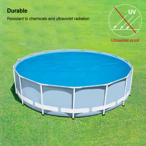 Swimming Pool Solar Blanket Cover Thermal Insulation Film Round Protective Mat