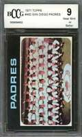 San Diego Padres Tc Team Card 1971 Topps #482 BGS BCCG 9