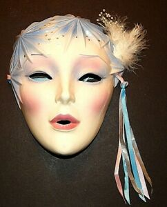 Vintage Clay Art San Francisco Wall Face Mask ~ Ice Queen, Winter Faery