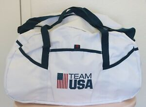 Vintage Team USA Duffle Bag White