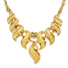 """Women Charms Necklace 24k Yellow Gold Filled 20"""" Chain Fashion Link Gift"""