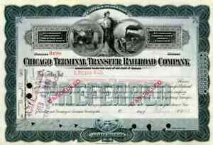 1898 Chicago Terminal Transfer RR Stock Certificate