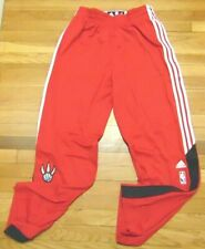 """ADIDAS NBA AUTHENTIC TORONTO RAPTORS RED ON COURT PANTS BUTTON DOWN SIZE 2XL+2"""""""