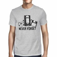 1Tee Mens Never Forget Retro Tapes T-Shirt