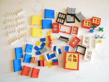 * LEGO Beau lot de portes, fenêtres, volets, barrières, hublot, fleurs