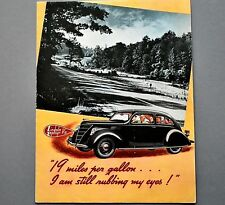 "ORIGINAL 1937 LINCOLN ZEPHYR V-12 DEALER FOLDER ~ 8.5"" X 11"" ~ 17"" X 22"" ~ 37LZ"