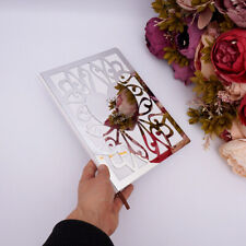 10 inches White Album Hard Cover Empty Pages Customized Wedding Love Guestbook