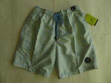 Exist Swim Surf Blue Floral Board Shorts Size L Mesh Lining Elastic Waist RP $50