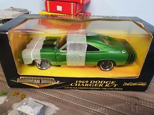 ERTL COLLECTIBLES, 1/18 SCALE AMERICAN MUSCLE, 1969 DODGE CHARGER R/T
