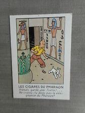 HERGE TINTIN  CARTE POSTALE LES CIGARES DU PHARAON 1984 EDITION ARNO TBE