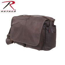 Rothco 91480 Brown Leather Classic Messenger Bag