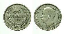 pcc1522_2)  50 LEVA 1930 BORIS III BULGARIA SILVER