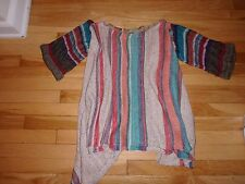 Rare Free People Rainbow Striped Poncho Sweater New With Tags!  Small S/XS