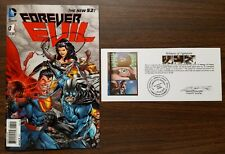 Forever Evil #1 3D Variant 1st Print signed  by David Finch with Notarized WOS