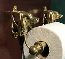 Black and Tan Coonhound Bronze Toilet Paper Holder