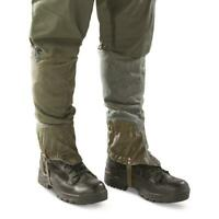 Army Gaiters Swiss Military Surplus Issue Drawstring Collectible Hunt Outdoor