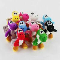 10pcs/Lot 10cm Mario Bros Yoshi Plush Toys pendant chain keyring chain