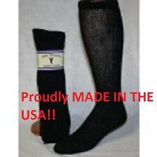 Black Diabetic Socks Over the Calf Socks Sole Pleasers size 10-13