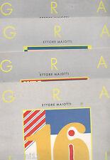 4 FASCICOLI DEL CORSO DI GRAFICA CREATIVA - 1989 - 13-14-15-16