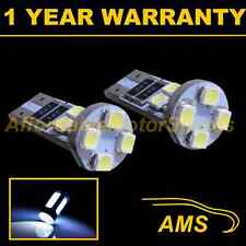2x W5W T10 501 Can Bus Blanco Libre de Errores 8 Leds Alto Nivel Freno Bombilla