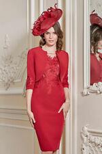 John Charles 26735 Red Mother of The Bride Formal Wedding 3 Piece Dress UK 16 44