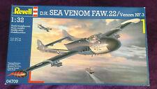 REVELL (Ex-Matchbox) 1:32 D.H. SEA VENOM FAW.22 / NF.3 Model Kit #04709 unopened