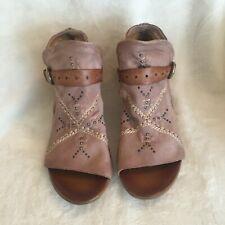 Miz Mooz Leather Peep Toe Booties - Caitlin, Rose, Sz 10.5 - 11 (Eur 42), New