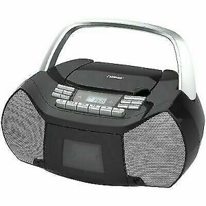 Portable Cassette Tape & CD player Boombox with audio input for smartphones