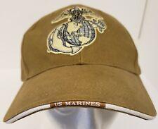EMBROIDERED USMC MARINES LOGO BASEBALL BALL CAP/HAT~ADJUSTABLE~ONE SIZE~EUC