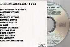 DELABEL ACTU mars - mai 1995 compilation CD PROMO iam jj cale massive attack ..