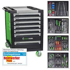 STARKMANN Blackline Werkzeugwagen 7 Schubladen inklusive 599 Teilen Werkzeugset