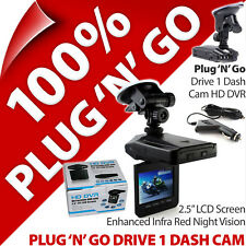 Pama Plug N Go Drive 1 Dash Camera Cam Enregistreur Vidéo Voiture HD DVR IR Night Vision