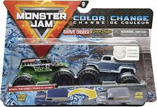Monster Jam Reveal The Steel Grave Digger 2pk 1 64 Scale Diecast Trucks