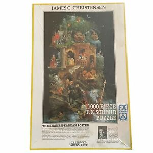 James C Christensen The Shakespearean Poster 1000 Piece FX Schmid Puzzle Sealed