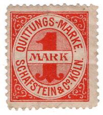 (I.B) Germany Revenue : Private Die Receipt 1M (Schafstein & Co)