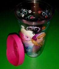 Tervis Double Insulated Tumbler Cup 16 oz With Pink Lid Disney Frozen Anna/Elsa