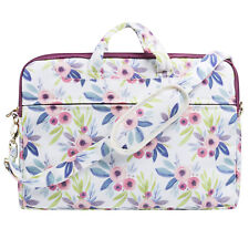 "TaylorHe 15.6"" Canvas Laptop Shoulder Bag Carry Case Handles Strap Classy Floral"