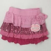 Lipstik Girls Toddler Skirt Pink Size 2T Ruffle Sequin Short Party NEW