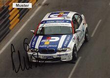 Autograph on Photo 13x18 cm Macau 2002 Duncan Huisman-BMW 320i