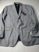 New Daniel Hechter Mens Sport Coat Size 44R Gray Check Two Button Dual Vent Wool